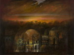 Moon on the Old City by Suad Al Attar