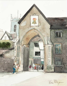 Watercolour by Ken Bizon. Westcliffe Gallery, Sheringham