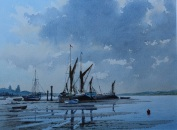 Blakeney. Watercolour by Adrian Taunton. The Westcliffe Gallery, Sheringham