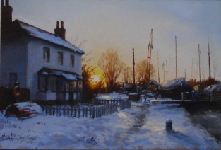 Pastel by Christine Slade, Westcliffe Gallery Sheringham