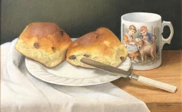 Oil by Edna Bizon. Westcliffe Gallery Sheringham