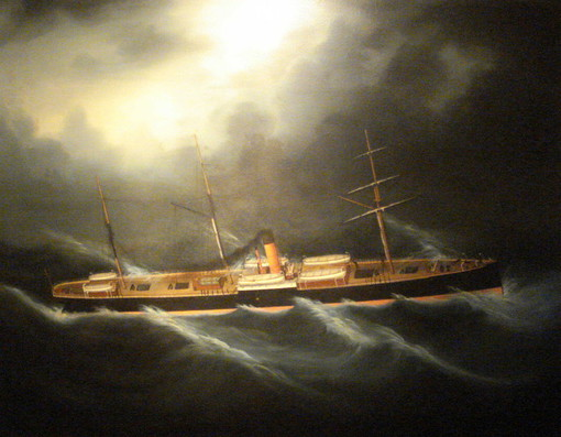 Glenorchy Shipping Oil circa 1900 The Westcliffe Gallery, Sheringham